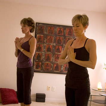 yoga session with counselor